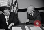 Image of Dwight Eisenhower meeting with William Knowland United States USA, 1953, second 31 stock footage video 65675041444