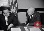 Image of Dwight Eisenhower meeting with William Knowland United States USA, 1953, second 32 stock footage video 65675041444