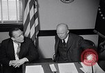 Image of Dwight Eisenhower meeting with William Knowland United States USA, 1953, second 34 stock footage video 65675041444