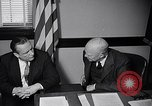 Image of Dwight Eisenhower meeting with William Knowland United States USA, 1953, second 36 stock footage video 65675041444