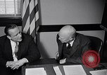 Image of Dwight Eisenhower meeting with William Knowland United States USA, 1953, second 37 stock footage video 65675041444
