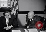 Image of Dwight Eisenhower meeting with William Knowland United States USA, 1953, second 38 stock footage video 65675041444