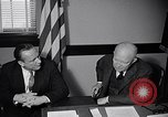 Image of Dwight Eisenhower meeting with William Knowland United States USA, 1953, second 39 stock footage video 65675041444