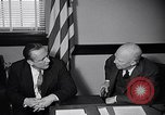 Image of Dwight Eisenhower meeting with William Knowland United States USA, 1953, second 40 stock footage video 65675041444
