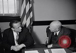 Image of Dwight Eisenhower meeting with William Knowland United States USA, 1953, second 41 stock footage video 65675041444
