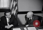Image of Dwight Eisenhower meeting with William Knowland United States USA, 1953, second 42 stock footage video 65675041444