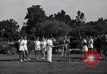Image of Archery girls Los Angeles California USA, 1937, second 14 stock footage video 65675041450