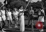 Image of Archery girls Los Angeles California USA, 1937, second 18 stock footage video 65675041450