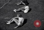 Image of Archery girls Los Angeles California USA, 1937, second 25 stock footage video 65675041450