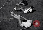 Image of Archery girls Los Angeles California USA, 1937, second 26 stock footage video 65675041450