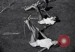 Image of Archery girls Los Angeles California USA, 1937, second 27 stock footage video 65675041450