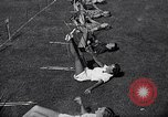 Image of Archery girls Los Angeles California USA, 1937, second 29 stock footage video 65675041450