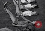 Image of Archery girls Los Angeles California USA, 1937, second 36 stock footage video 65675041450