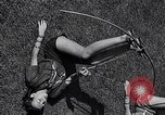 Image of Archery girls Los Angeles California USA, 1937, second 39 stock footage video 65675041450