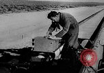 Image of rocket powered sled Muroc California USA, 1948, second 20 stock footage video 65675041471
