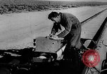 Image of rocket powered sled Muroc California USA, 1948, second 21 stock footage video 65675041471