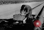 Image of rocket powered sled Muroc California USA, 1948, second 23 stock footage video 65675041471