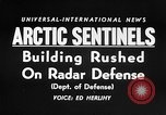 Image of Radar stations Canada, 1956, second 17 stock footage video 65675041475