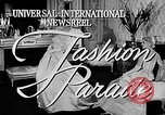 Image of fashion show Italy, 1956, second 3 stock footage video 65675041480