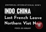 Image of French troops Haiphong Vietnam, 1955, second 1 stock footage video 65675041482