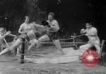 Image of underwater boxing Silver Springs Florida USA, 1954, second 8 stock footage video 65675041495