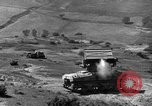 Image of tanks outfitted with hedgerow cutters and flame throwers Europe, 1944, second 41 stock footage video 65675041512