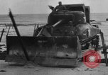Image of tanks outfitted with hedgerow cutters and flame throwers Europe, 1944, second 58 stock footage video 65675041512