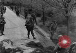 Image of US 16th Infantry accompanied by Armor, advance  from Osterode Germany, 1945, second 21 stock footage video 65675041532