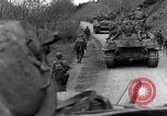 Image of US 16th Infantry accompanied by Armor, advance  from Osterode Germany, 1945, second 47 stock footage video 65675041532