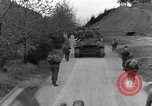 Image of US 16th Infantry accompanied by Armor, advance  from Osterode Germany, 1945, second 50 stock footage video 65675041532