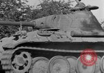 Image of Captured Mark V tank Saint Lo France, 1944, second 17 stock footage video 65675041538