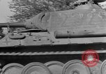 Image of Captured Mark V tank Saint Lo France, 1944, second 18 stock footage video 65675041538