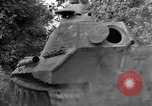 Image of Captured Mark V tank Saint Lo France, 1944, second 44 stock footage video 65675041538