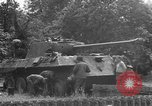 Image of German Mark V tank captured by Americans Saint Lo France, 1944, second 49 stock footage video 65675041541