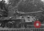 Image of German Mark V tank captured by Americans Saint Lo France, 1944, second 60 stock footage video 65675041541