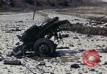 Image of Destroyed Army convoy Hoengsong Korea, 1951, second 6 stock footage video 65675041573
