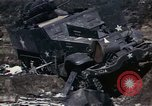 Image of Destroyed Army convoy Hoengsong Korea, 1951, second 28 stock footage video 65675041573
