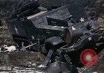 Image of Destroyed Army convoy Hoengsong Korea, 1951, second 29 stock footage video 65675041573