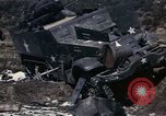 Image of Destroyed Army convoy Hoengsong Korea, 1951, second 30 stock footage video 65675041573