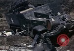 Image of Destroyed Army convoy Hoengsong Korea, 1951, second 31 stock footage video 65675041573
