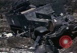 Image of Destroyed Army convoy Hoengsong Korea, 1951, second 33 stock footage video 65675041573