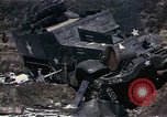 Image of Destroyed Army convoy Hoengsong Korea, 1951, second 34 stock footage video 65675041573