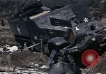 Image of Destroyed Army convoy Hoengsong Korea, 1951, second 35 stock footage video 65675041573