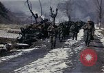 Image of Destroyed Army convoy Hoengsong Korea, 1951, second 61 stock footage video 65675041573