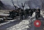 Image of Destroyed Army convoy Hoengsong Korea, 1951, second 62 stock footage video 65675041573