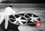 Image of flying scooters Princeton New Jersey USA, 1959, second 22 stock footage video 65675041631