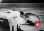 Image of flying scooters Princeton New Jersey USA, 1959, second 25 stock footage video 65675041631