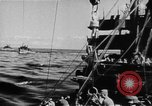 Image of United States Coast Guard transports carry amphibious forces Guadalcanal Solomon Islands, 1942, second 15 stock footage video 65675041744