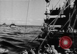 Image of United States Coast Guard transports carry amphibious forces Guadalcanal Solomon Islands, 1942, second 17 stock footage video 65675041744