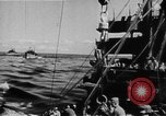Image of United States Coast Guard transports carry amphibious forces Guadalcanal Solomon Islands, 1942, second 18 stock footage video 65675041744